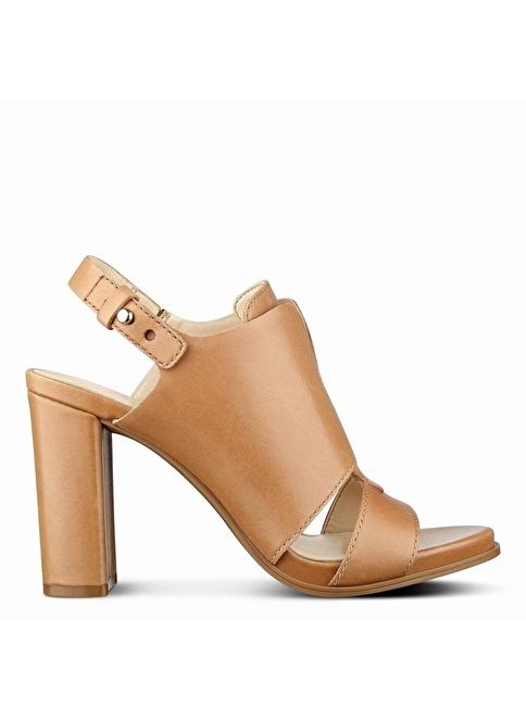 Nine West Kalın Topuklu Deri Ayakkabı Ten